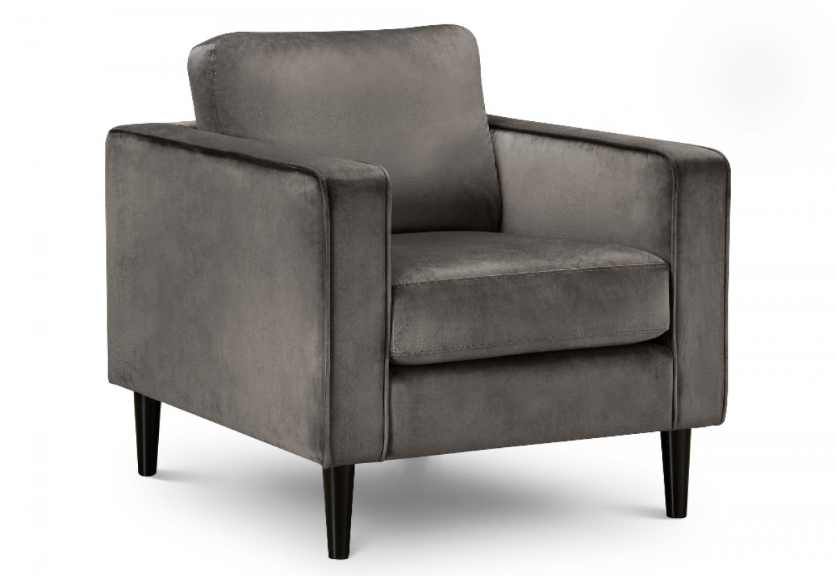 Hayward Grey Velvet Fabric Chair