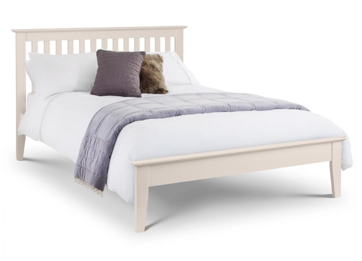 Salerno Ivory Wooden Bed