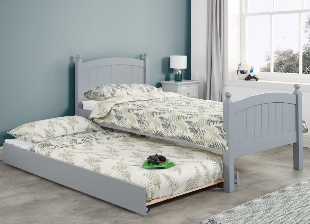 Whitehaven Grey Wooden Guest Bed