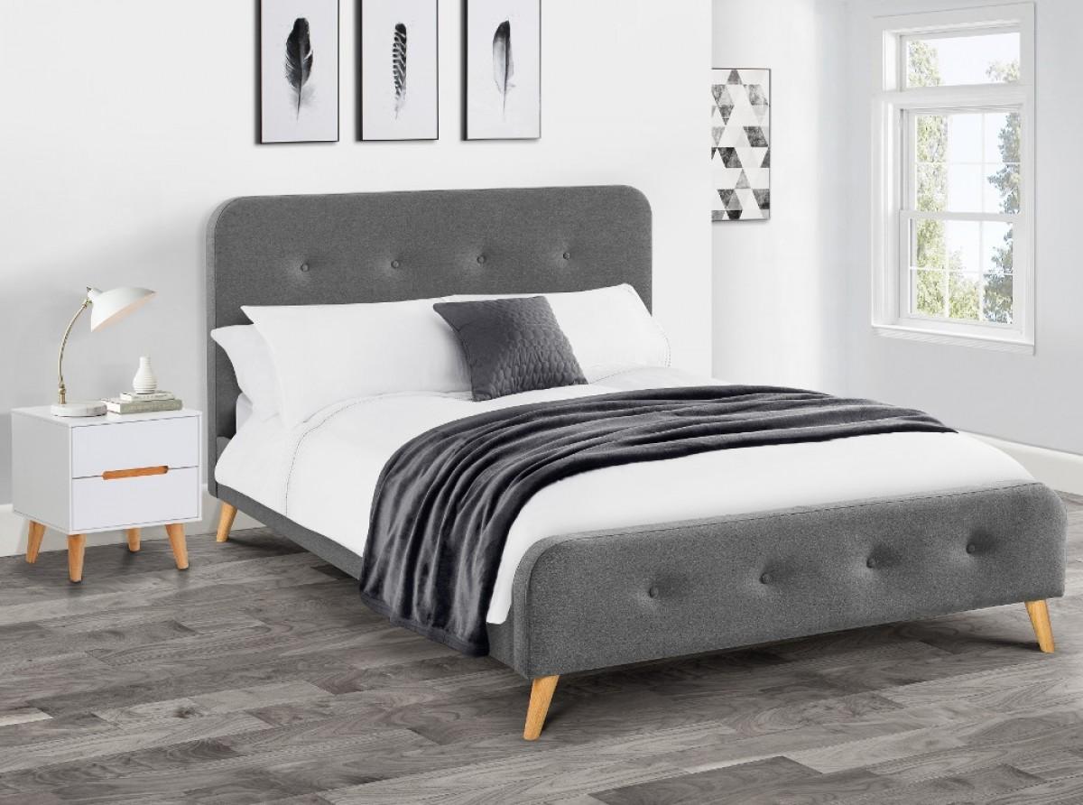 Astrid Grey Fabric Bed