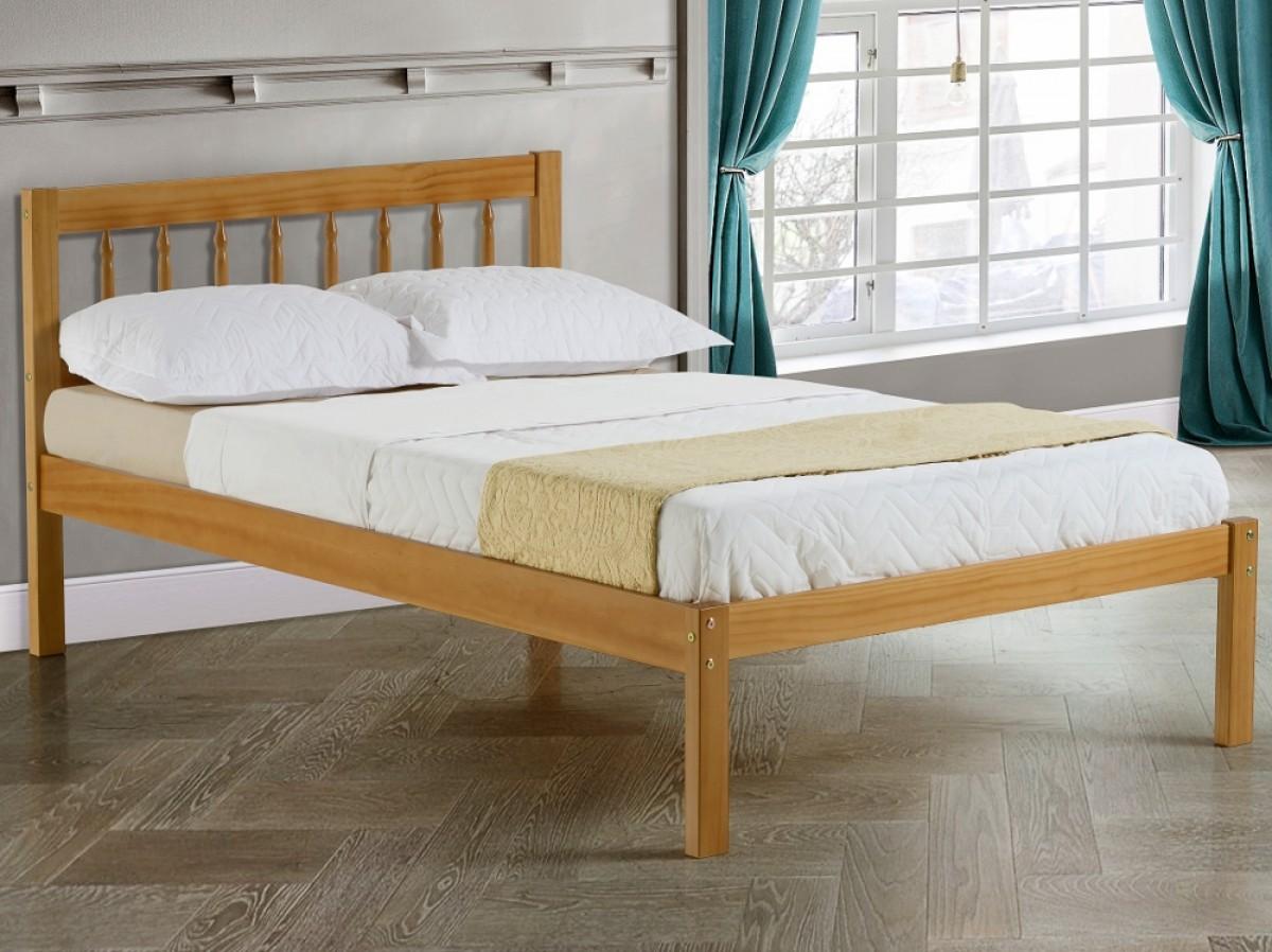 Santos Antique Solid Pine Wooden Bed
