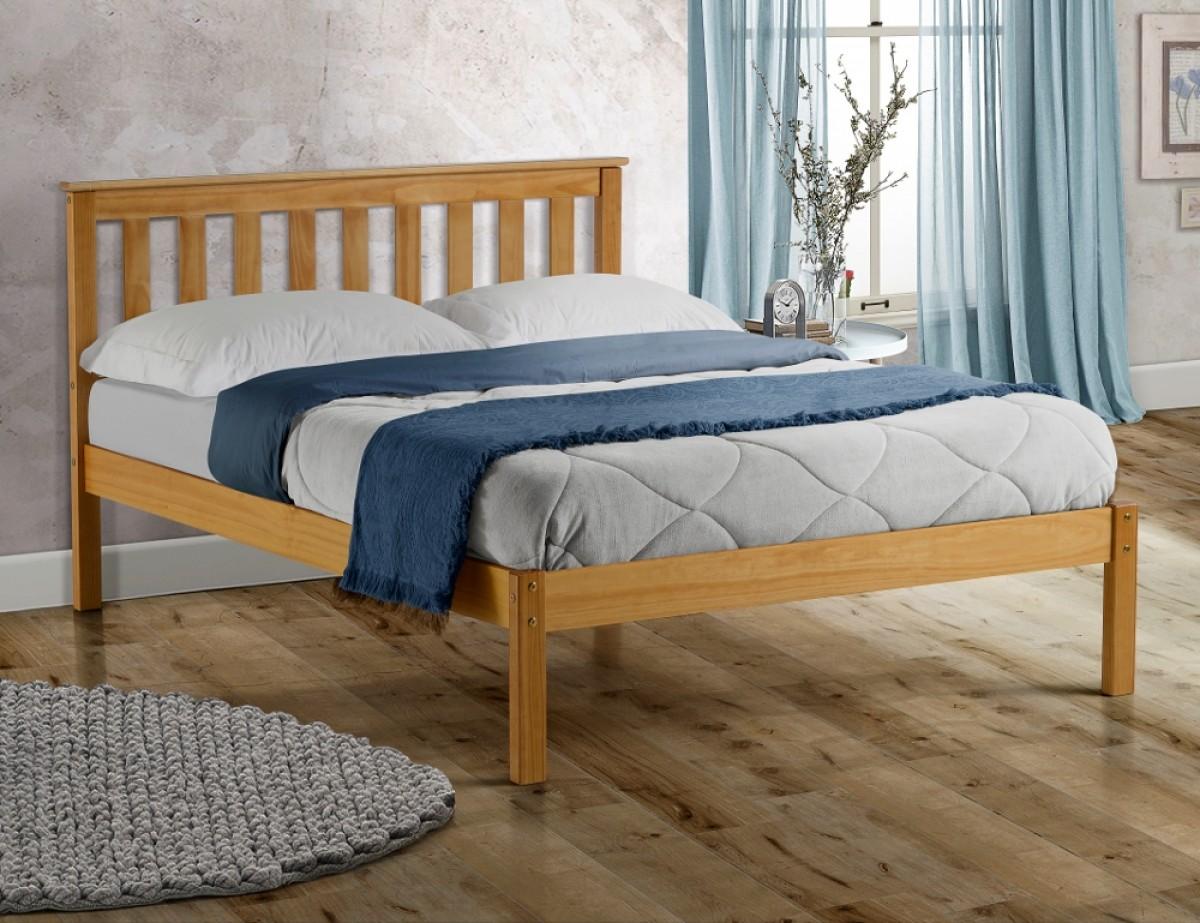 Denver Antique Solid Pine Wooden Bed