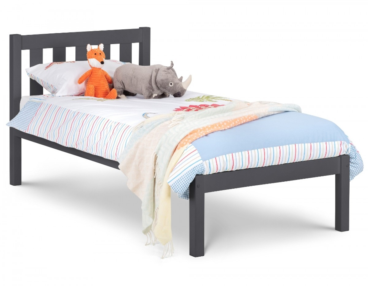 Luna Dark Grey Wooden Bed