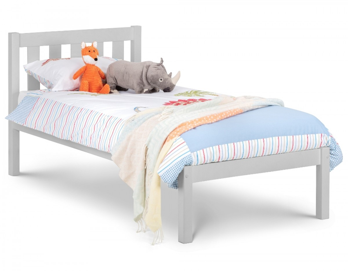 Luna Grey Wooden Bed