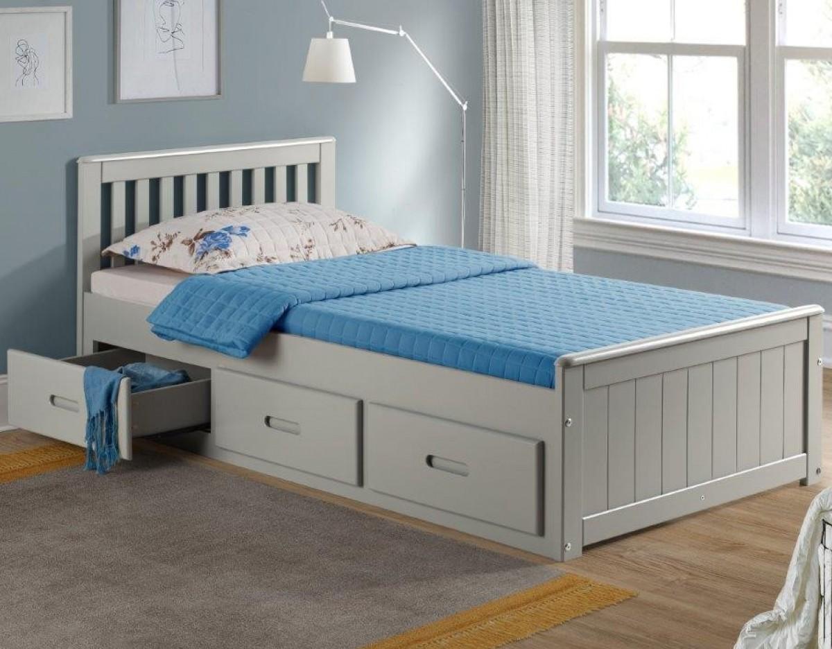 Mission Grey Wooden Storage Bed