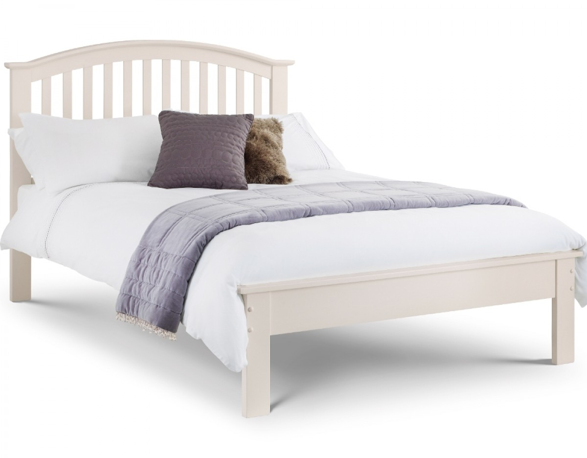 Olivia Stone White Wooden Bed