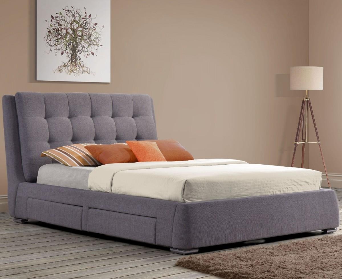 Mayfair Grey Fabric 4 Drawer Storage Bed