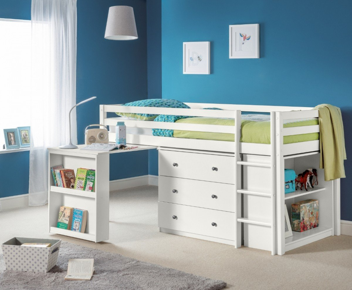 Roxy White Wooden Mid Sleeper