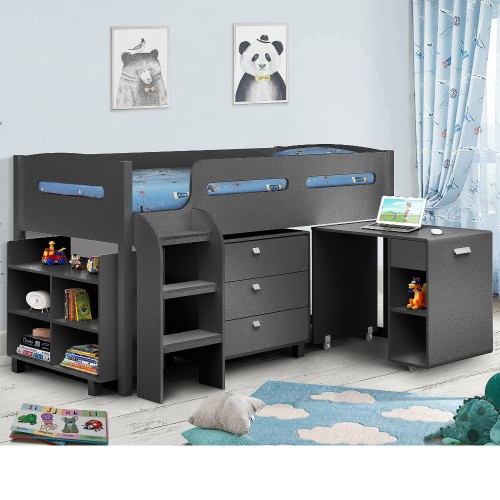 Kimbo Anthracite Mid Sleeper Cabin Bed