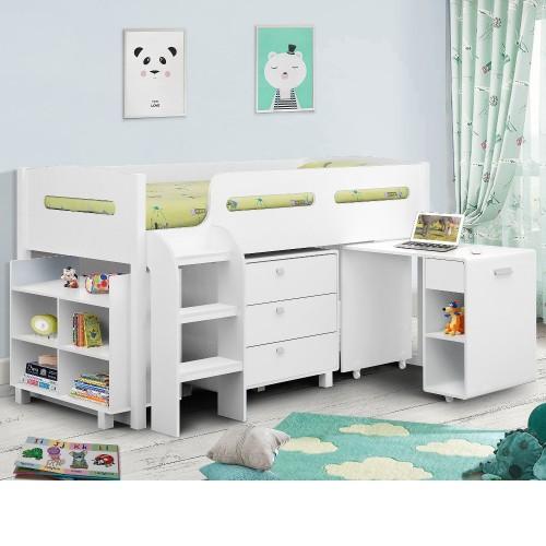 Kimbo White Mid Sleeper Cabin Bed