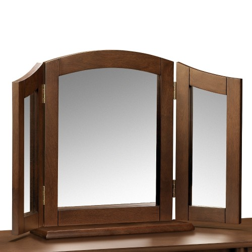 Minuet Wenge Dressing Table Triple Mirror 81 X 50 Cm