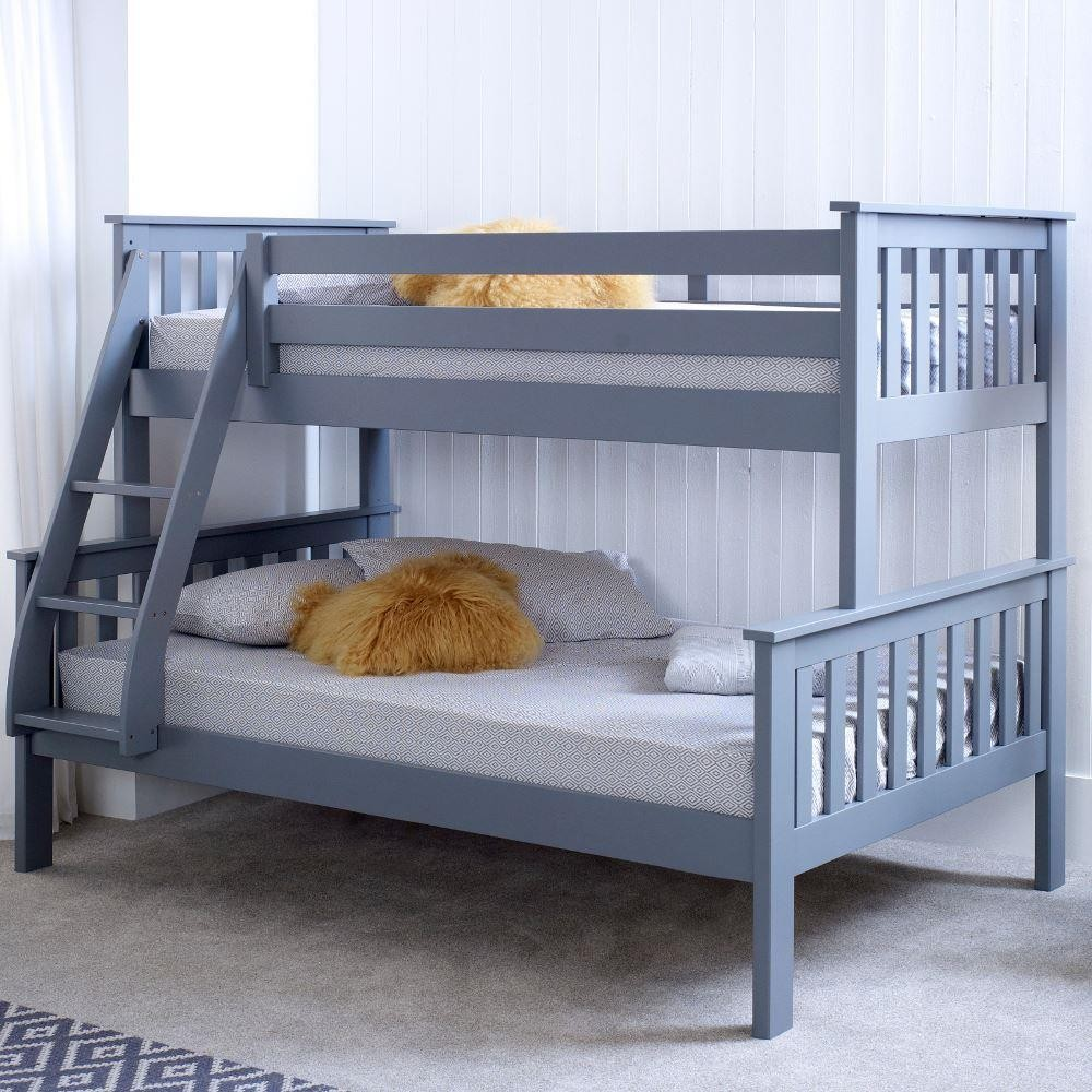 Atlantis Grey Wooden Triple Sleeper Bed Frame
