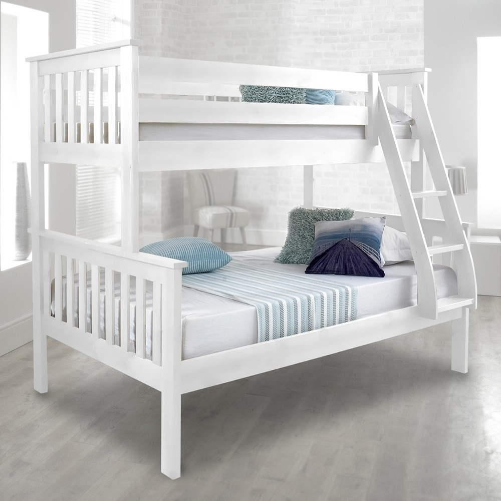 Atlantis White Finish Solid Pine Wooden Triple Sleeper