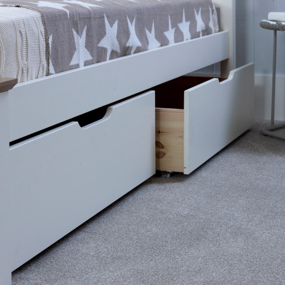 Chester White Wooden Underbed Storage Drawers