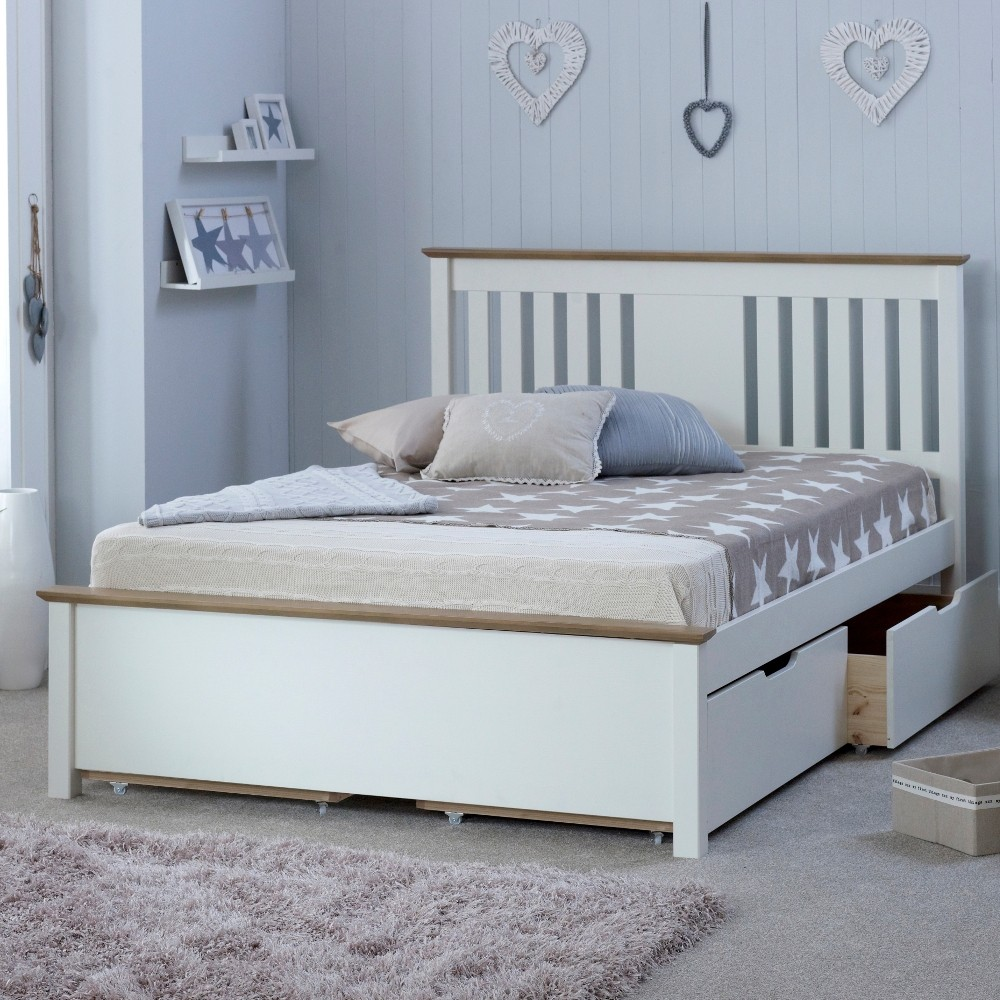 Sleep Science Mattress >> Chester White and Oak Wooden Bed