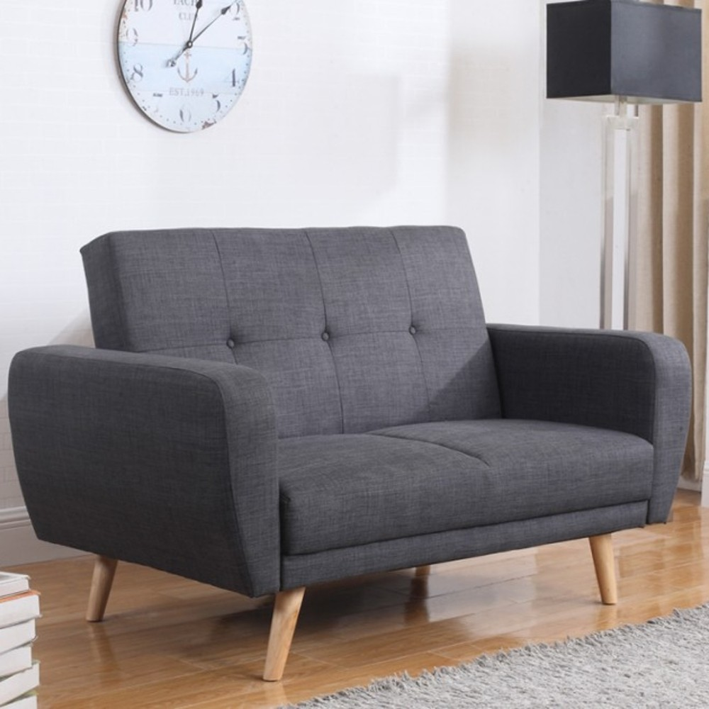 Farrow grey fabric sofa bed for Schlafsofa 2 sitzer
