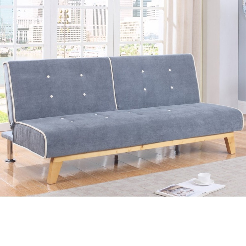 Jackson grey fabric sofa bed for Grey divan bed