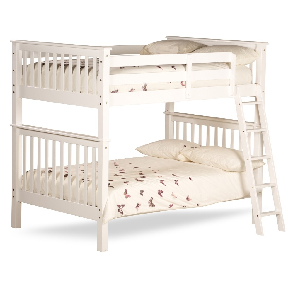 Malvern White Wooden Quadruple Sleeper Bunk Bed