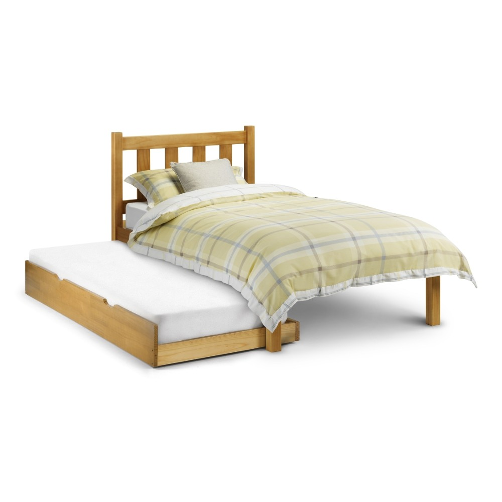 Poppy Antique Solid Pine Wooden Guest Bed And Trundle