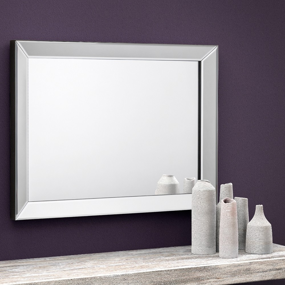 Soprano rectangular glass wall mirror 60 x 80 cm for Mirror 80 x 60