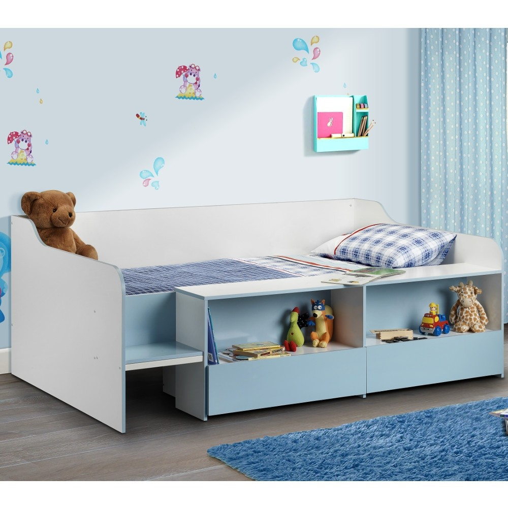 Stella Blue and White Wooden Kids Low Sleeper Cabin ...