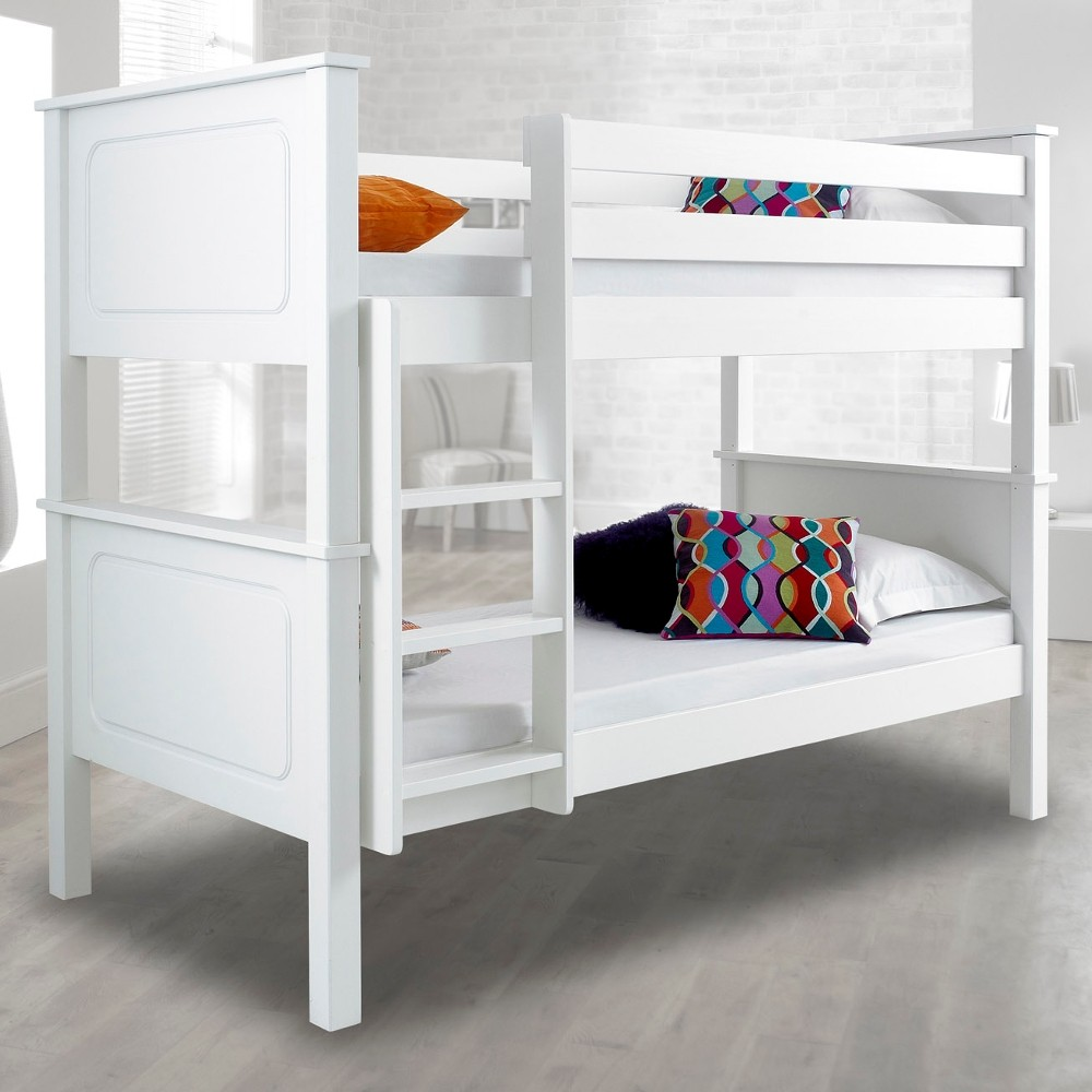 Vancouver White Finish Solid Pine Wooden Bunk Bed - Vancouver bunk beds