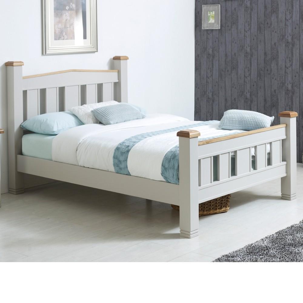 Woodstock Grey Wooden Bed