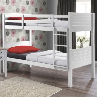 Dakota White Wooden Bunk Bed