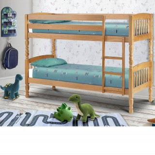 Lincoln Antique Solid Pine Wooden Bunk Bed