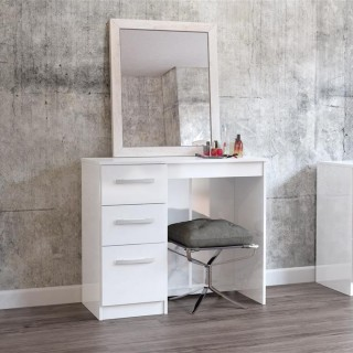Lynx 3 Drawer Dressing Table White