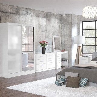 Lynx White Wooden Bedroom Furniture Collections