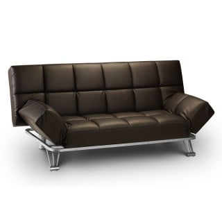 Manhattan Brown Faux Leather Sofa Bed