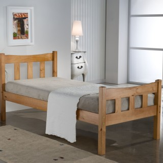 Miami Antique Solid Pine Wooden Bed