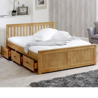 7939a2044b03 Mission Waxed Pine Wooden Storage Bed