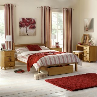 Pickwick Antique Pine Wooden Bedroom Furniture Collection