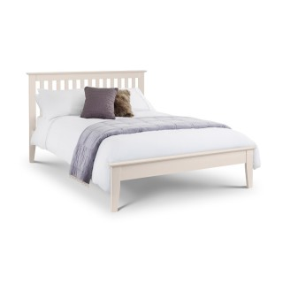 Salerno Stone White Wooden Bed