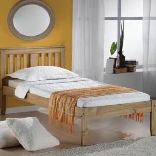 Salvador Antique Solid Pine Wooden Bed