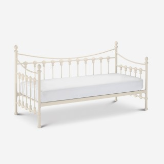 Versailles Stone White Metal Guest Day Bed - 3ft Single