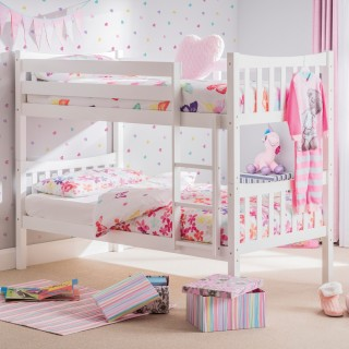 Zodiac White Wooden Bunk Bed