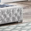 Finsbury Steel Crushed Velvet Bed