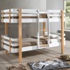 Hudson White and Oak Wooden Bunk Bed