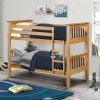 Barcelona Antique Solid Pine Wooden Bunk Bed