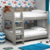 Domino Grey Oak Wooden and Metal Kids Storage Bunk Bed