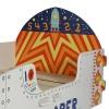 Space Explorer Children's Rocket Ship Toddler Bed