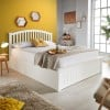 Grayson White Wooden Ottoman Storage Bed