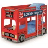 London Bus Red Wooden Kids Theme Bunk Bed