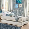 Milano Cream Metal Guest Day Bed and Trundle - 3ft Single