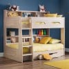 Orion Oak Wooden Storage Bunk Bed