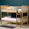 Seattle Antique Solid Pine Wooden Modern Bunk Bed
