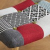 Sloane Multi-Coloured Patchwork Fabric Stool